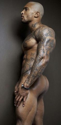 David McIntosh, give him long dreads and he would be perfect! That booty! David Mcintosh, Hot Men, Sexy Men, Hot Guys, Sexy Guys, Hot Tattoos, Tattoos For Guys, Black Is Beautiful, Gorgeous Men