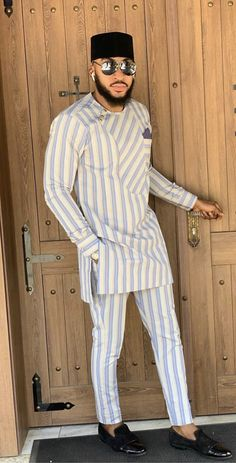 men's outfits – High Fashion For Men African Wear Styles For Men, African Shirts For Men, African Dresses Men, African Attire For Men, African Clothing For Men, Nigerian Men Fashion, Indian Men Fashion, African Inspired Fashion, African Print Fashion