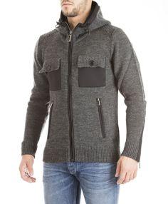 Hamaki-Ho fall/winter 2015 - grey hooded pullover with pokets