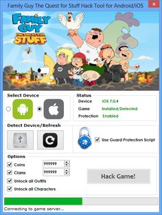 ThisFamily Guy The Quest For Stuff Hackwill help you generate unlimited Coins andClams