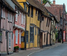 The crooked town of Lavenham England ...♥♥...