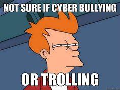 Cyber bullying or trolling