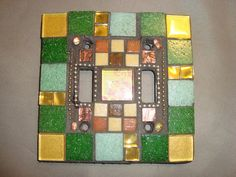MOSAIC LIGHT SWITCH Plate Cover Double Wall Plate Home