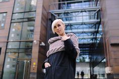 Nude alpaca wool snood | Knitted scarf | Infinity scarf | Chunky scarf | Shalf | Loop scarf | Hooded | Designer's scarf | Kotè design by KoteStudio on Etsy