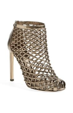 Gucci 'Eline' Studded Cage Open Toe Booties