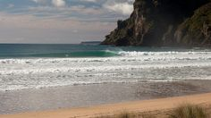 Surfing a Northland river mouth #Northland #NewZealand courtesy of Tony Foster