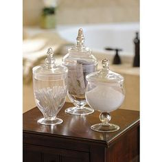 http://www.kirklands.com/product/Home-Decor/Home-Accents/Vases-Jars/Clarion-Apothecary-Jar-Set-of-3/pc/2284/c/2342/sc/2341/158013.uts