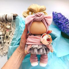 Amazing Home Sewing Crafts Ideas. Incredible Home Sewing Crafts Ideas. Tilda Toy, Pink Doll, Polymer Clay Dolls, Handmade Toys, Handmade Crafts, Waldorf Dolls, Sewing Toys, Doll Head, Soft Dolls