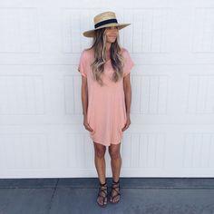 Pocketed Tee Dress