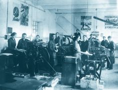 Bata factory and employees in Czech Republic, ca. 1920 | http://www.bata.cz/