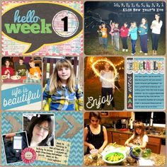 Hello Week 1 - Project Life 2013 left