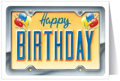 Happy birthday license plate
