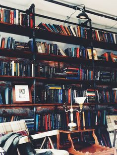 Interior - Having a library where customers could just take a book and sit and enjoy their coffee would be amazing :)