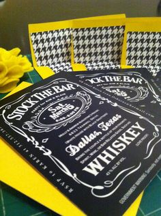 Great stock the bar shower invites.