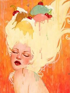"""Ice Cream Sundae"" by Sylvia Ji- from her 2005-2006 collection of paintings"