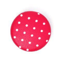 Kunststoffknopf Punkte 5 (12) - Polyamid - rot