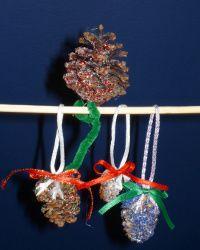 Quick Glitter Pine Cones | FaveCrafts.com