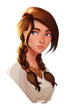 f npc Villager barmaid portrait Character Portraits, Character Drawing, Character Illustration, Illustration Art, Girl Cartoon, Cartoon Art, Girls Characters, Cool Drawings, Art Girl