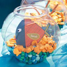 Guppy Gathering | Fish themed birthday party snack bowl