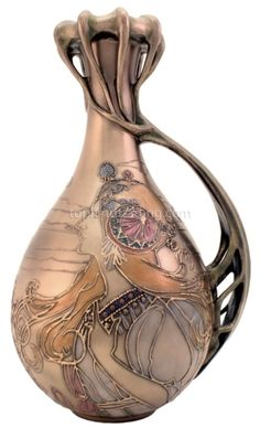 Vase - hand blown - Art Nouveau  - designed by Mucha