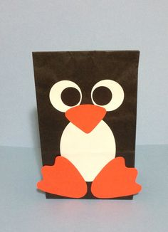 Penguin party/favor bag by PlanningWithJacen on Etsy, $18.00