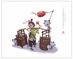 來碗豆腐腦 Art by Yi Wang • Blog/Website | (http://blog.sina.com.cn/u/1966132672)  ★ || CHARACTER DESIGN REFERENCES™ (https://www.facebook.com/CharacterDesignReferences & https://www.pinterest.com/characterdesigh) • Love Character Design? Join the #CDChallenge (link→ https://www.facebook.com/groups/CharacterDesignChallenge) Share your unique vision of a theme, promote your art in a community of over 50.000 artists! || ★