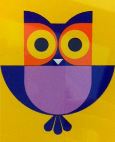 vintage owl playing card
