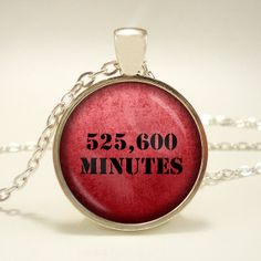 525600 Minutes  Handcrafted Pendant Necklace  by RosiesPendants, $12.95