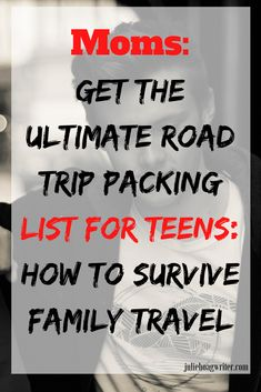 What to pack for a roadtrip with teens. Road trip kit for teenagers. Book ideas, boredom busters like games, a travel journal, traveling in comfort accessories (great holiday gifts for teens), road trip snack ideas. Holiday travel tips for teens. Road Trip With Kids, Family Road Trips, Travel With Kids, Family Travel, Family Vacations, Road Trip Activities, Road Trip Snacks, Road Trip Games, Camping Games