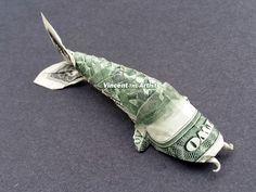 1000 images about dollar art money art on pinterest for Dollar bill koi fish