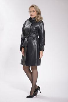 Long Leather Coat, Leather Skirt, Leather Jacket, Rubber Raincoats, Skirts, Jackets, Fashion, Studded Leather Jacket, Moda