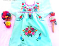 Improve How You Look With These Great Fashion Tips Toddler Dress, Baby Dress, Mexican Babies, Pom Pom Baby, Mexican Dresses, Baby Sewing, Toddler Fashion, Baby Kids, Long Sleeve Shirts