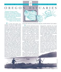 Native shellfish & introduced species in Oregon estuaries, by the South Slough National Estuarine Research Reserve