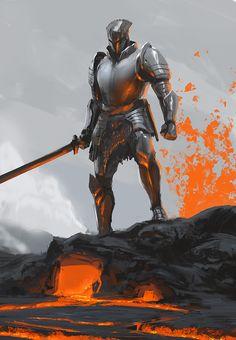 Lava Knight, ryan  lang on ArtStation at https://www.artstation.com/artwork/OELPy