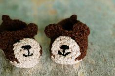 Crochet Puppy Slippers