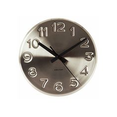This bold engraved wall clock by Karlsson at Tesco Direct has that hardwearing, utilitarian design that is key to this trend.