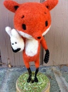 Cute fox needle felt craft