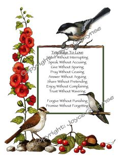 Ten Ways To Love With Art Border Of Birds by FreshAirPrintables
