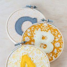 Embroidered Alphabet Hoop Art DIY with template. thanks so for share xox