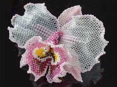 ひらひら大輪のカトレアビーズコサージュ #カザリ咲色 #ビーズ #ビーズフラワー #ビジュー #ハンドメイド #コサージュ #手作り #手芸 #アクセサリー #コスチュームジュエリー #bead #beads #bijou #beading #beadedflower #beadswork #beadwork #beadsph #bijoux #beaded #biser #corsage #handmade @【カザリ咲色】 Kazari-Sakuiro.jp