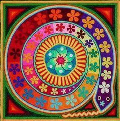 Huichol yarn art no estamos huecos por dentro