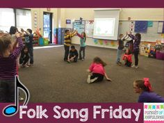 Pursuit of Joyfulness: Folk Song Friday {Let Us Chase the Squirrel} - Watch a video of the singing game and grab some FREE visuals to use in your classroom to teach half note and the melodic concept, re. Preschool Music, Teaching Music, Dance Lessons, Music Lessons, Music For Young Children, Singing Games, Action Songs, Music Classroom, Classroom Ideas