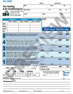 free hvac invoice template excel
