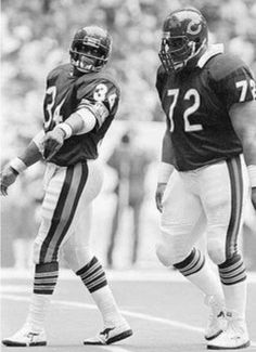 "Why we love football: walter ""sweetness"" payton william ""refrigerator"" perry Bears Football, Football Baby, Football Memes, Sports Memes, Football Players, Nfl Bears, Football Shirts, College Football, 1985 Chicago Bears"