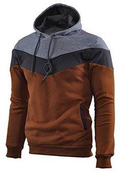 129a9e2490bd Mooncolour Mens Novelty Color Block Hoodies Cozy Sport Autumn Outwear  Lightweight Jacket, Kangaroo