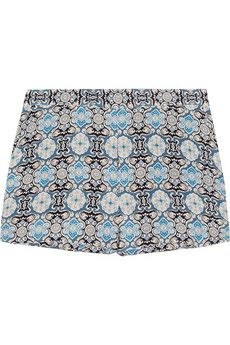 printed silk shorts x joseph