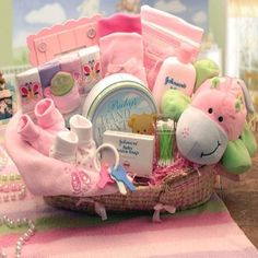 Creative Ideas For Baby Gift Baskets - Unique Baby Gift Baskets Ideas | Bash Corner