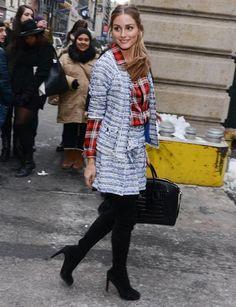 London Fashion Week Herbst/Winter 2014: Olivia Palermo ist der Hingucker. Zwar nicht auf dem Catwalk, dafür aber abseits