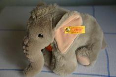 Vintage Steiff Elephant stuffed animal by PickaDeal on Etsy, $30.00 Elephant Stuffed Animal, Stuffed Animals, Elephants, Teddy Bear, Memories, Unique Jewelry, Handmade Gifts, Vintage, Etsy