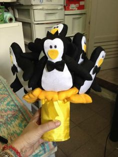 Buquê de Pinguins | Santinhos para Casamento | 27642B - Elo7